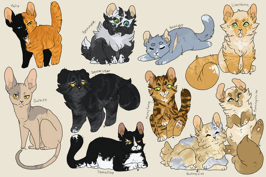 Warrior Cat Breedables | CLOSED