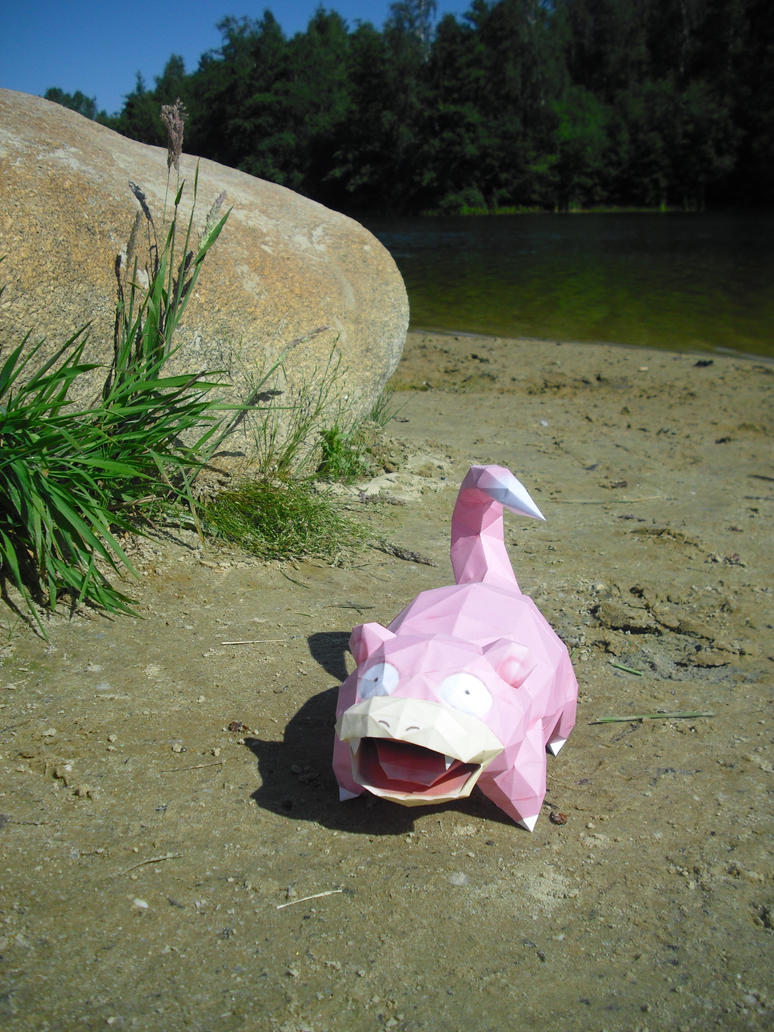 Slowpoke Papercraft by TimBauer92