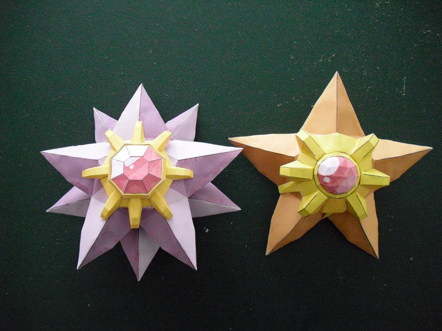 Staryu and Starmie papercraft by TimBauer92