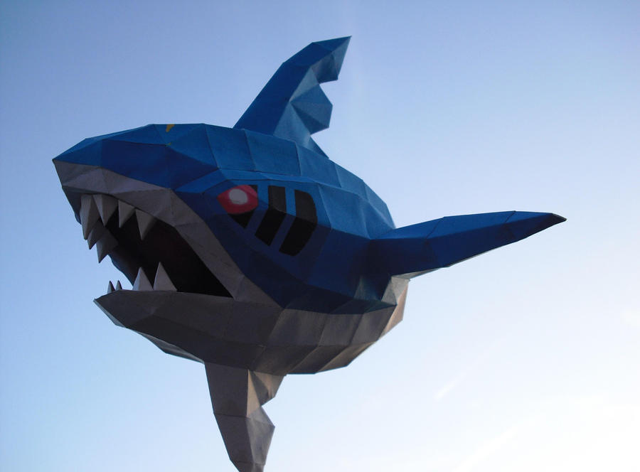 Sharpedo papercraft by TimBauer92