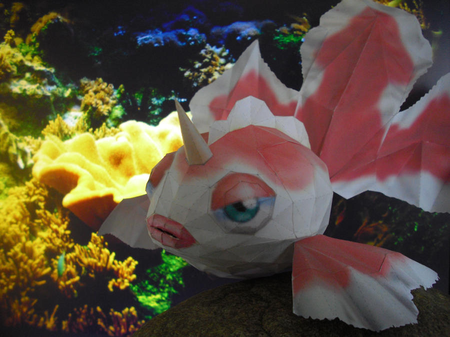 Goldeen papercraft by TimBauer92