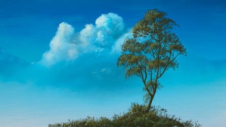 Cloud and Tree on canvas
