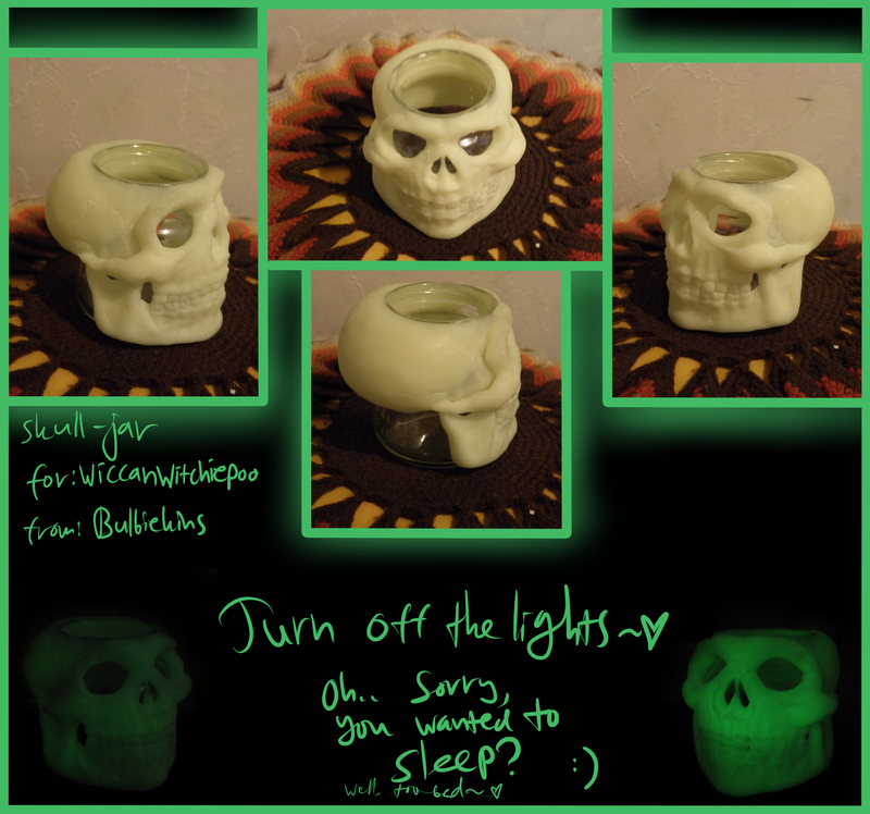 AC: Skull Jar gift for wiccanwitchiepoo~. by Eiliakins