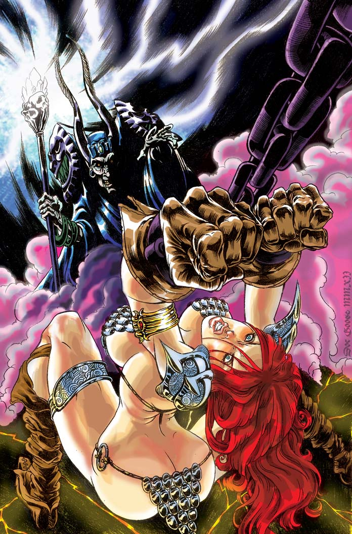 Red Sonja Cover Colour by DOCGOOSE