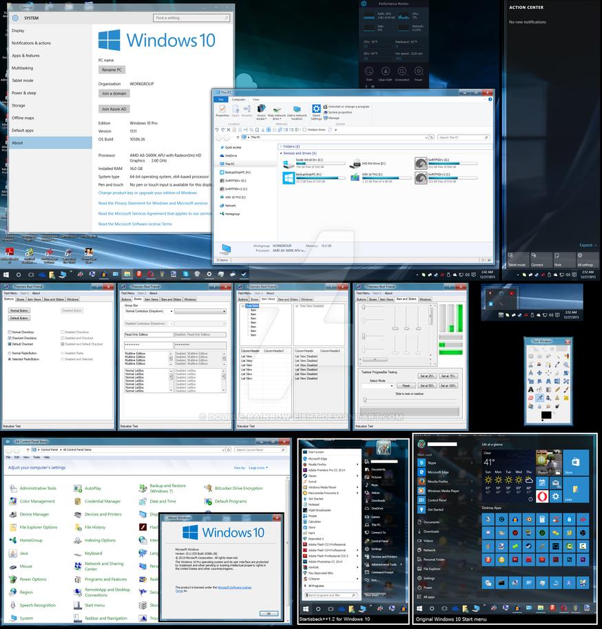 Windows 10 Threshold 2 skinning. by Double-Rainbow-Ei8ht