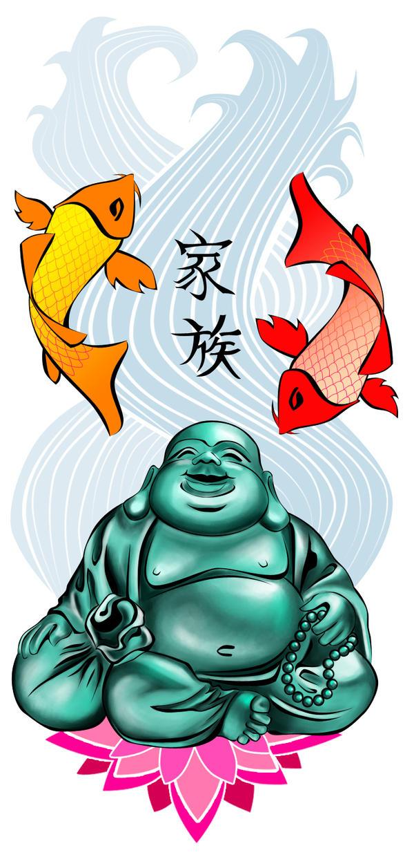smiling buddha tattoo. Buddha Tattoo by *DarkJadey on
