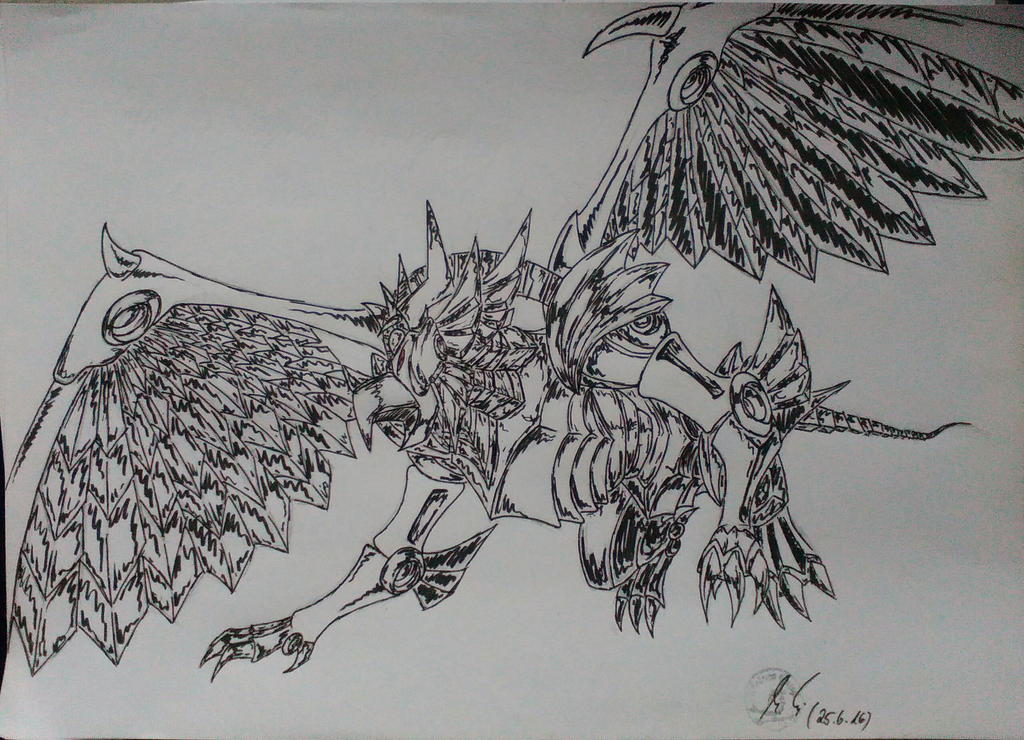 Winged dragon of Ra by eumel1999