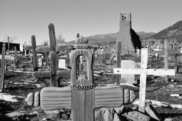 Taos Cemetary by digitalideation
