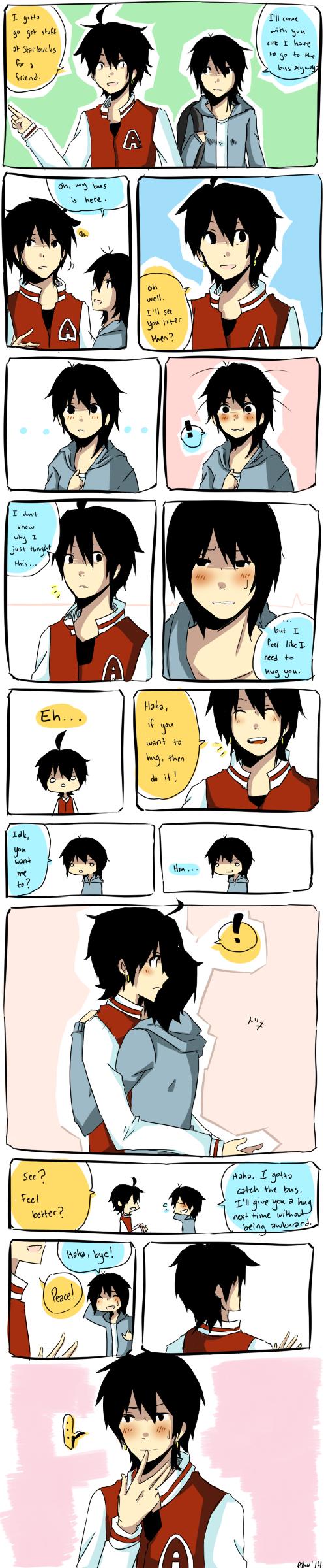 Awkward Hug by djchungy
