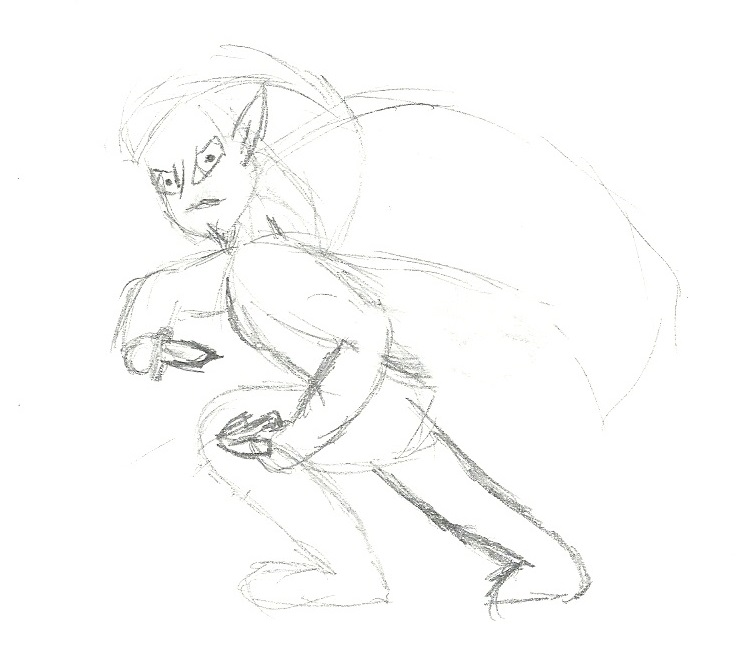 Drow Final Sketch by ShadowDancerBrony