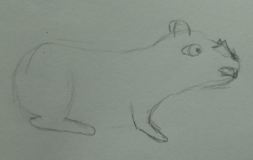 Horned Gopher - Sketch by ShadowDancerBrony