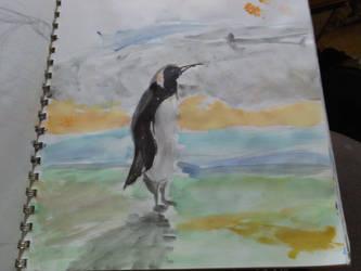 Penguin Sunset by meimei808