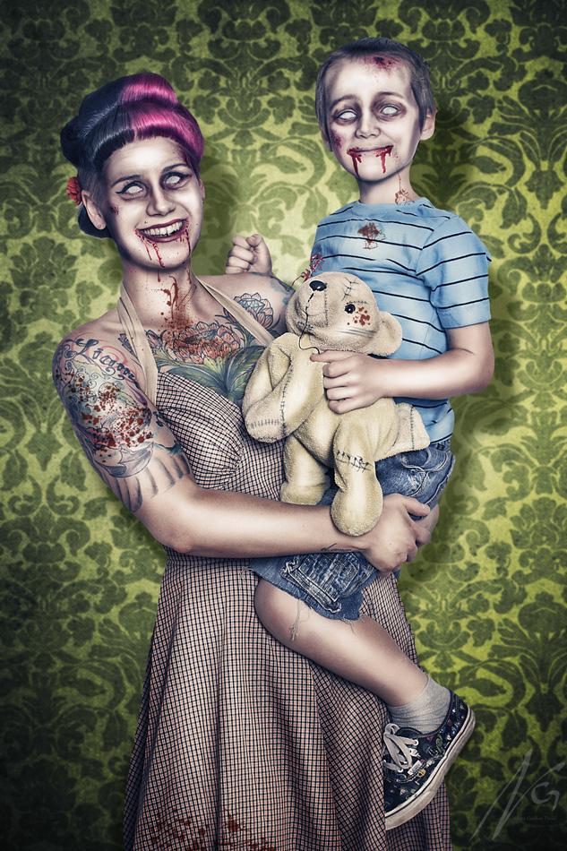 Zombie Cuddles by falt-photo