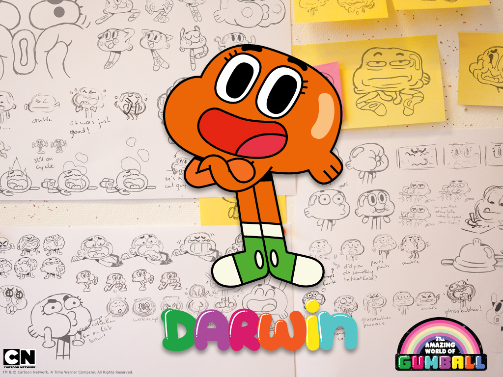 Gumball wallpaper Darwin3 1024x768 by andre00190