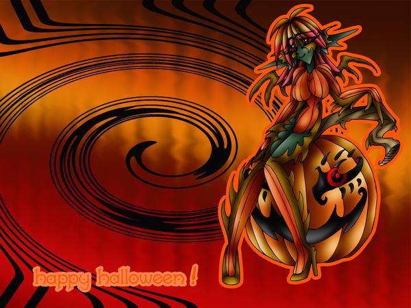 Wallpaper: Legion Pumpkin by AkuOreo