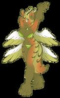 Fuzzy Dragon Anthro by AkuOreo