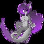 Shark Slime Girl Ally Chibi by AkuOreo