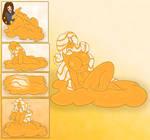 Orange Cream Slime Girl