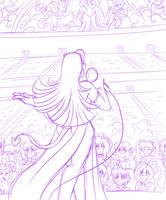 Ruby's Concert Sketch by AkuOreo