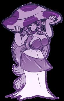 Mushroom Girl Wraith Sketch