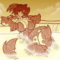 Lava Kaiju Girl Sketch