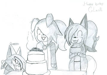 There are too many candles (B-day Gift) by ChaosStarBitz007