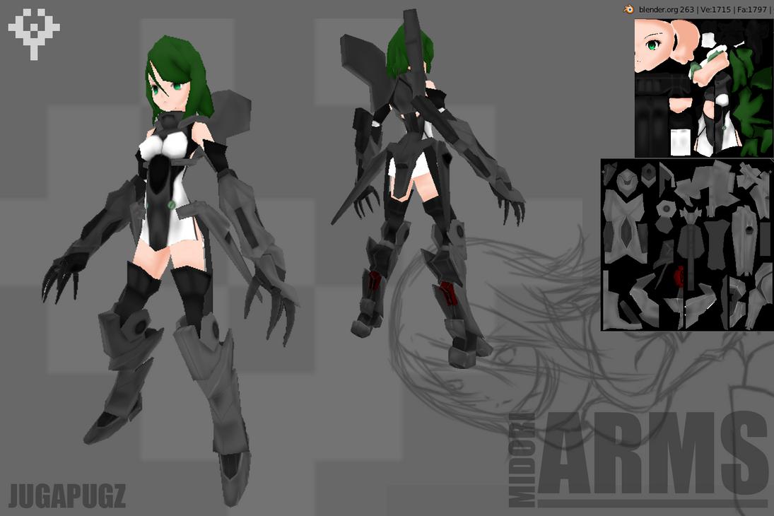 Lowpoly_Midori:ARMS by jugapugz