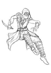 Assassin coloring page