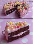 rainbow chocolate cake charms