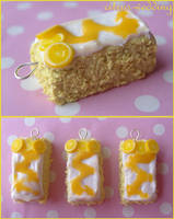 lemon drizzle cake charms by citruscouture