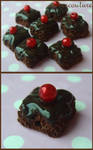 Chocolate brownie beads