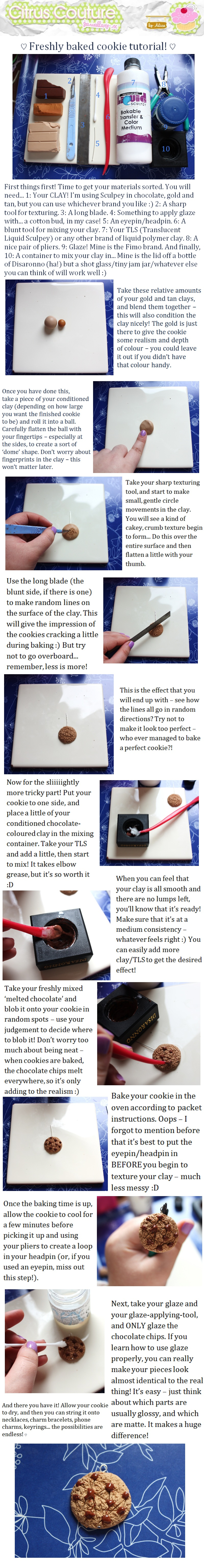 Cookie charm tutorial by citruscouture