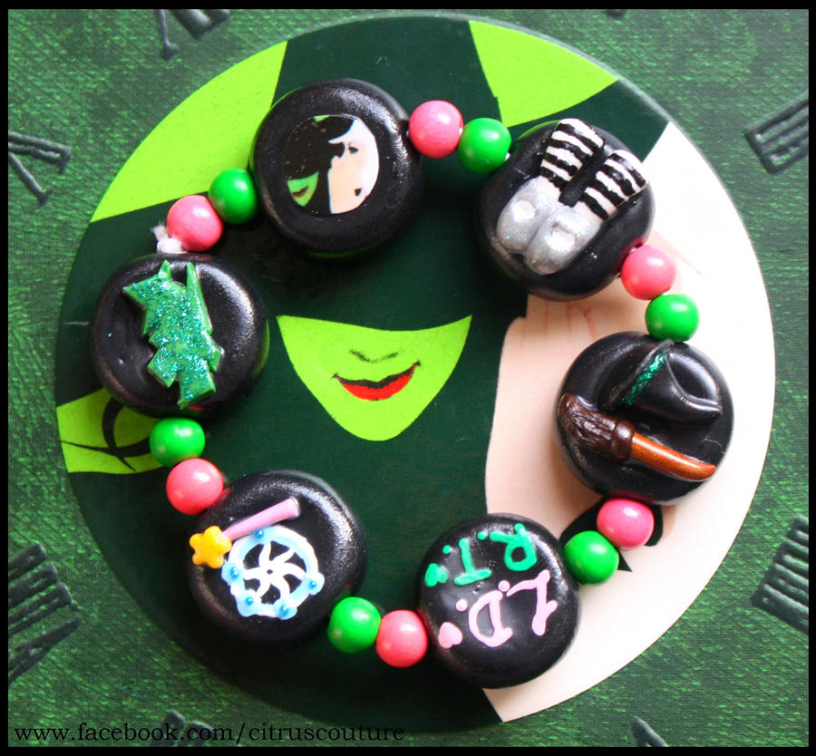 Wicked the Musical themed bracelet by citruscouture
