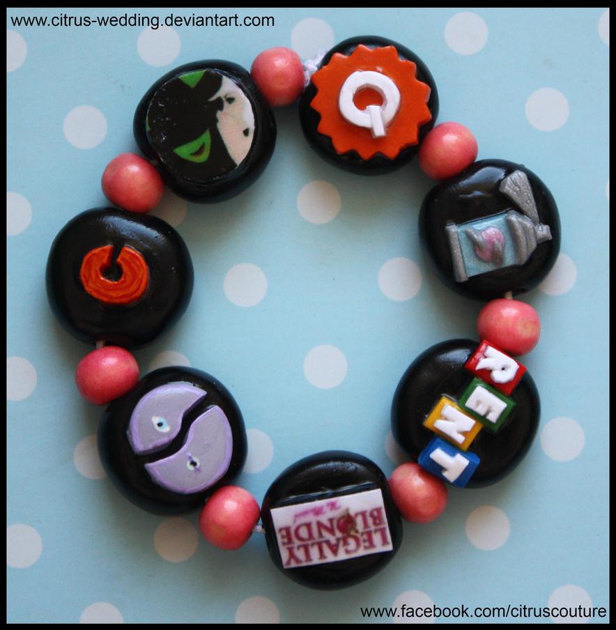 Custom Musicals bracelet V by citruscouture