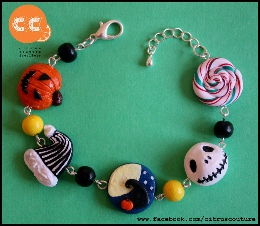 The Nightmare Before Christmas bracelet by citruscouture on DeviantArt