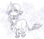 March 2013 Special Adoptable- Okali Lineart -SOLD- by EmilyCammisa