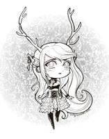 Kat's Adoptable Faun Scarlet Lineart -SOLD- by EmilyCammisa
