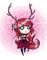 Kat's Adoptable Faun Scarlet Colored -SOLD- by EmilyCammisa