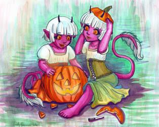 Natasha and Natalia's Happy Halloween Inked by EmilyCammisa