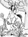 Faun Shaman - First Version Inked