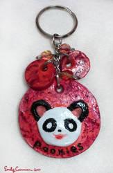 Pookie Panda Keychain by EmilyCammisa