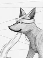 Kurogitsune Fanart Sketch Portrait by EmilyCammisa