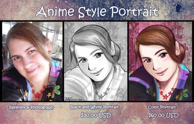 Anime Portrait Sample by EmilyCammisa