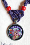 'Stained Glass Fairy' Pendant Closeup