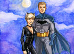 Scott and Kathy as Batman and Catwoman