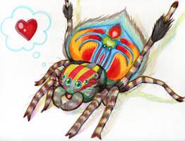 Jenny's Chibi Peacock Spider by EmilyCammisa