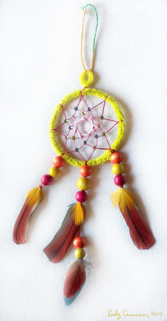 Sparkle Parrot Dreamcatcher by EmilyCammisa
