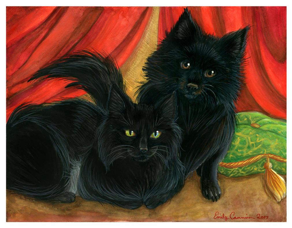 Pet Portrait - Blu and Harley by EmilyCammisa