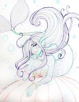 Maya the Mermaid Color Lineart by EmilyCammisa