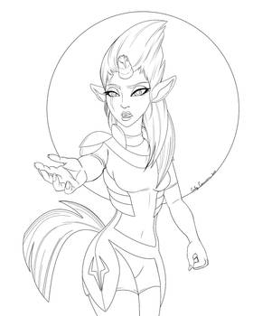 Tempest Shadow Unifaun Lineart